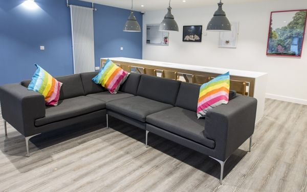 Additional seating area throughout Hyndland House, perfect for putting your feet up after a hard days work at uni