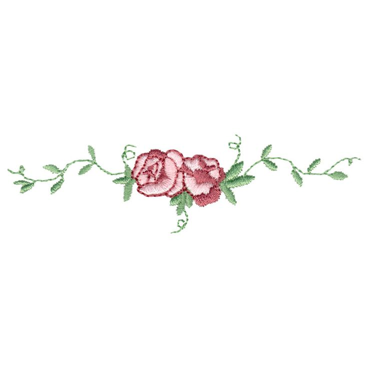 """This free embroidery design from Embroidery Online is called """"Rose Border""""."""