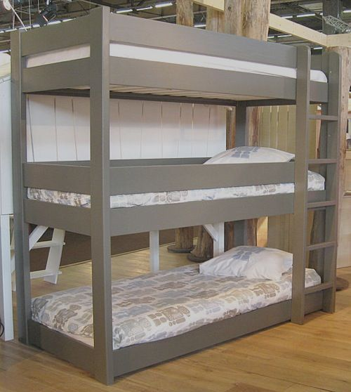 conserving room as well as staying trendy with triple bunk beds - Hausgemachte Etagenbetten Mit Rutsche