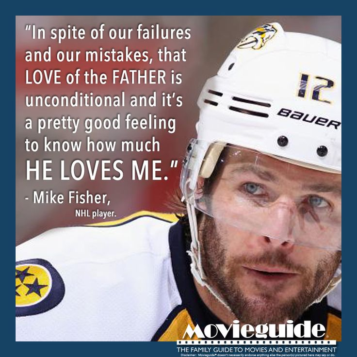 Mike Fisher, NHL player for the Nashville Predators. Hubby of Carrie Underwood!