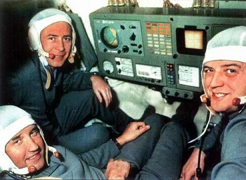 Soyuz 11 (Russian: Союз 11, Union 11) was the only manned mission to board the world's first space station, Salyut 1 (Soyuz 10 had soft-docked but had not been able to enter due to latching problems). The mission arrived at the space station on 7 June 1971 and departed on 30 June. The mission ended in disaster when the crew capsule depressurised during preparations for reentry, killing the three-man crew