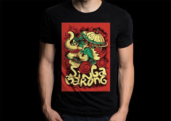 New Balinese Gildan T-Shirt The Singa Barong by CreativeIndonesia
