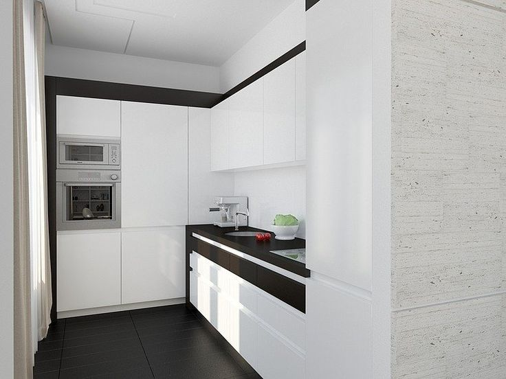 Fashionable Apartment Decoration with the Best Design: Sleek Contemporary Kitchen Design White Cupboard Fashionable Moscow Apartment