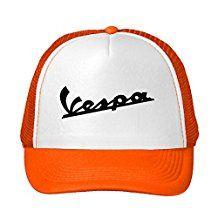 Woman's or Men's Vespa Scooters Funny Logo Comfortable Fan Adjustable Mesh Caps