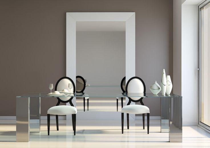 Mesa Acero Inox y cristal. Fabricada en España http://www.internamaste.com/mesas-comedor/mesa-acero-y-cristal--t-863_319/0.asp
