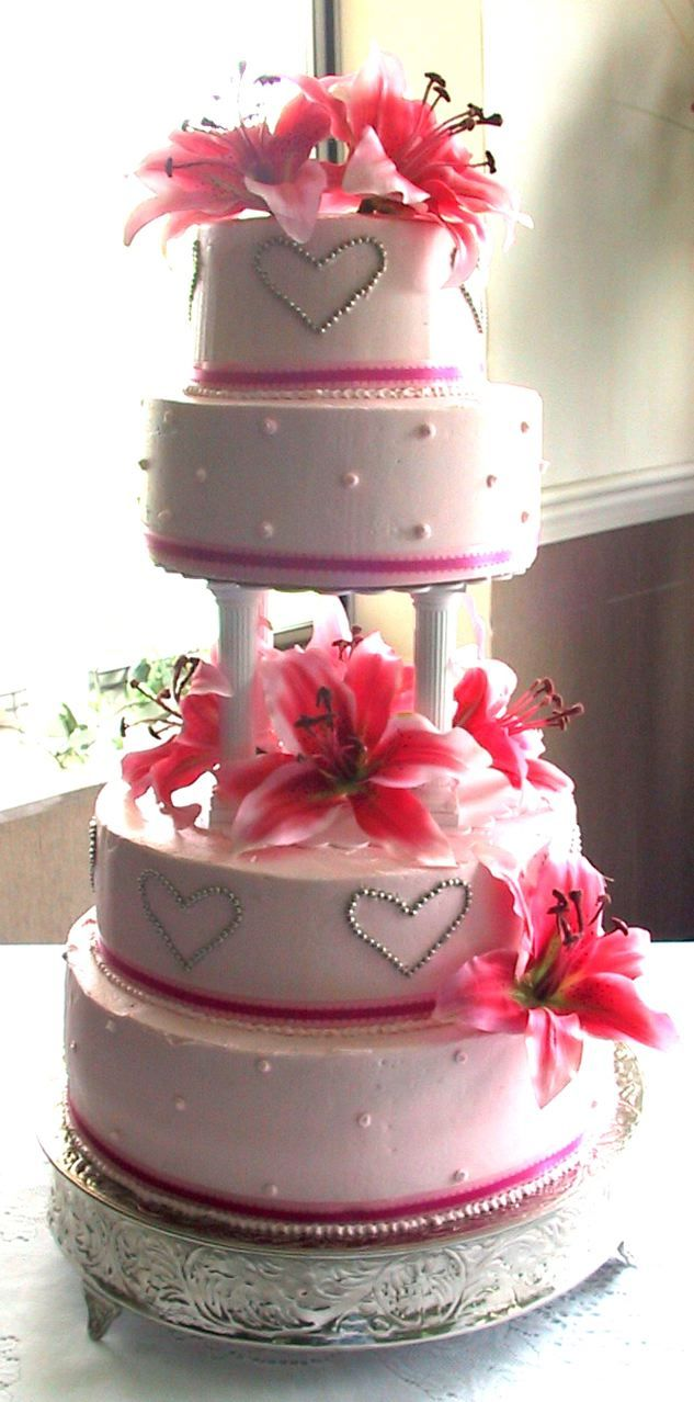 cute!!: Cakes Ideas, Cakes Inspiration, Awesome Cakes, Cakes Category, Cakes Minus, Cakes Design, Parties Ideas, Cakes Galas, Pink Wedding Cakes