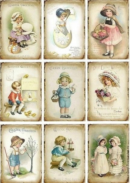 Little girls and boys vintage sheets