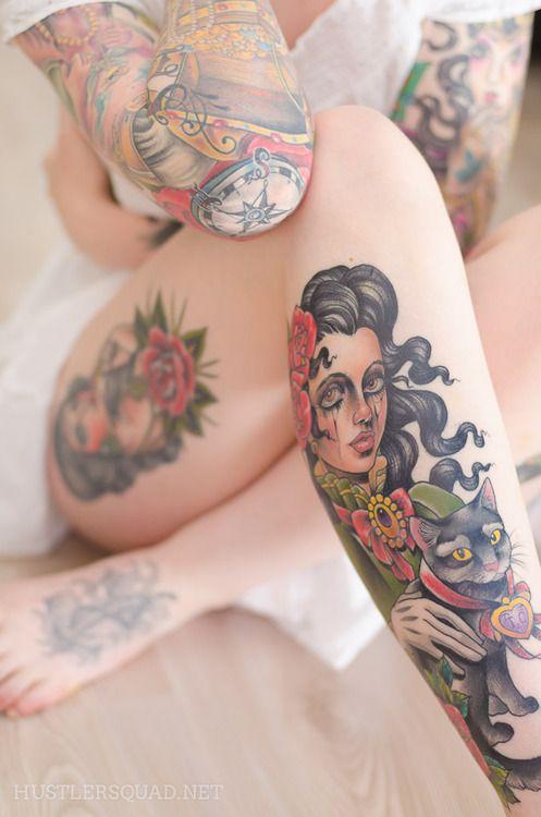 .: Tattoo Ideas, Tattooink, Girls Tattoo, Body Art, Legs Tattoo, Cat Tattoo, Tattoo Girls, Body Tattoo, Tattoo Ink