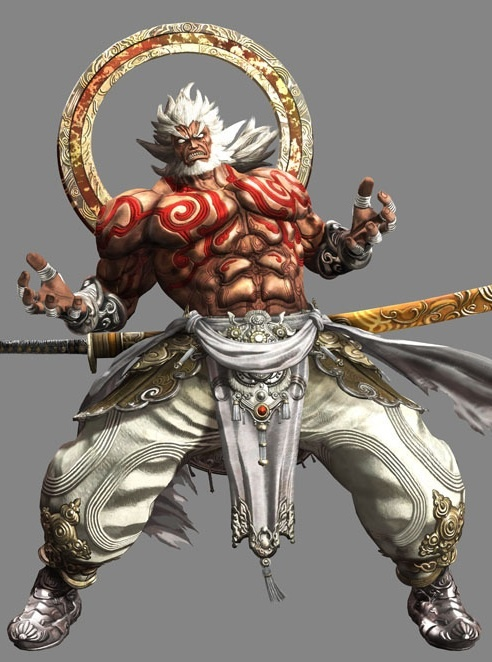 Asuras wrath - This is a 3D sprite art from the game Asuras wrath. This is a very exaggerated anime styled sprite with has rich colours and lots of aesthetic detail.