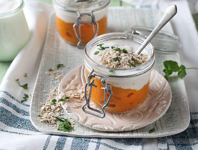 Sütőtökkrém joghurttal és zabpehellyel Recept képpel - Mindmegette.hu - Receptek