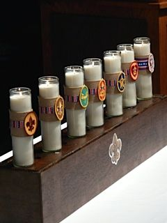 Eagle Court of Honor Candles for Ceremony