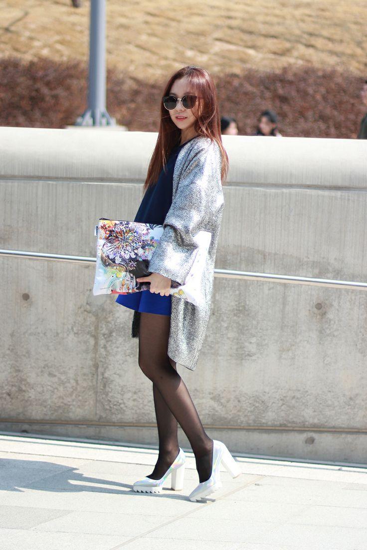 서울패션위크 스트릿 패션: 바이민 엠보 프레스 탑 : 네이버 블로그