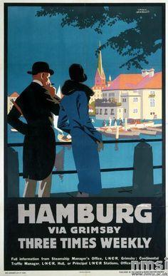 Image result for hamburg travel poster