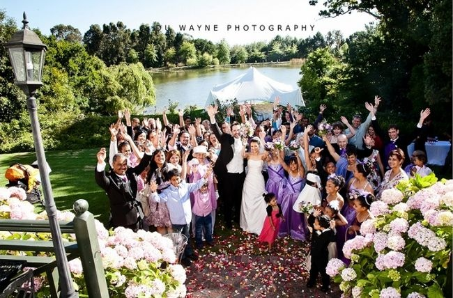 Top 20 Garden & Outdoor Wedding Venues in Cape Town   Confetti Daydreams - Thatched venue at #Zevenwacht offers a picturesque setting set alongside a magnificent lake that boasts panoramic views of Table Mountain ♥ #Garden #Outdoor #Wedding #Venues #Cape #Town