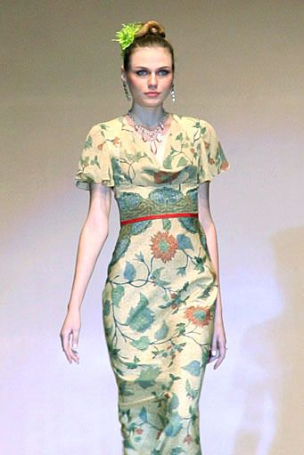 Batik dress by Lu Kun