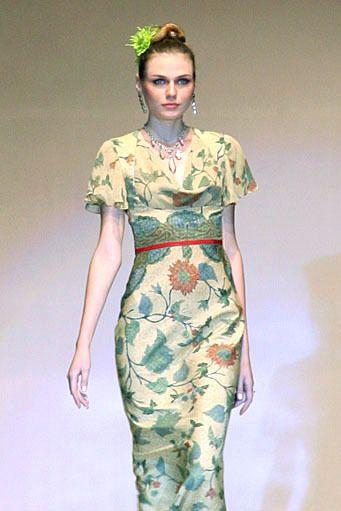 Batik dress by Lu Kun