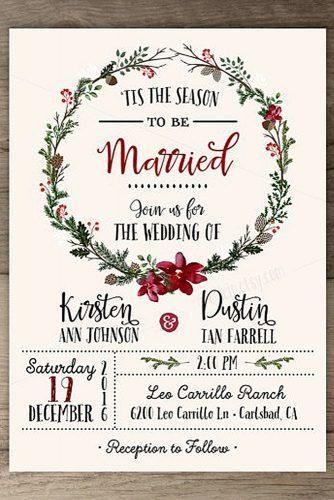Elegante Winter-Hochzeits-Einladungen, Hochzeitsplanungsideen u. -Inspiration. …   – Christmas wedding