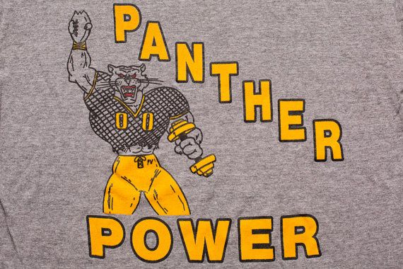 Panther Power T-shirt, Rayon Blend, Pitt Pittsburgh University, Football Graphic Tee, Vintage 80s