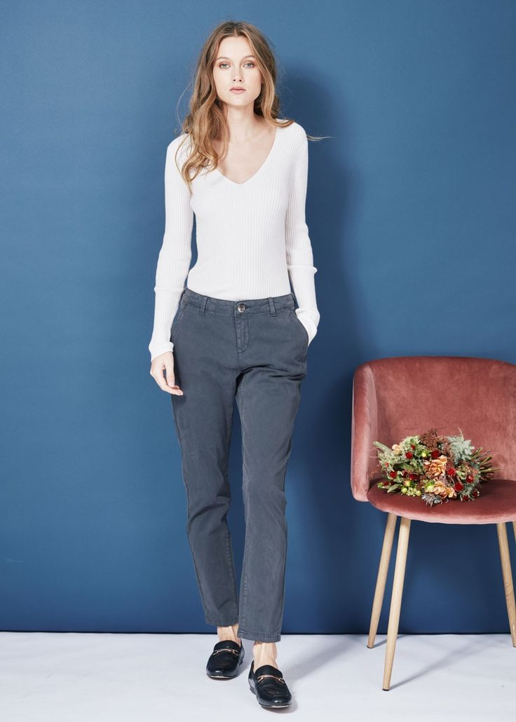 Pantalon peppers plomb - pantalons femme - sud express 1