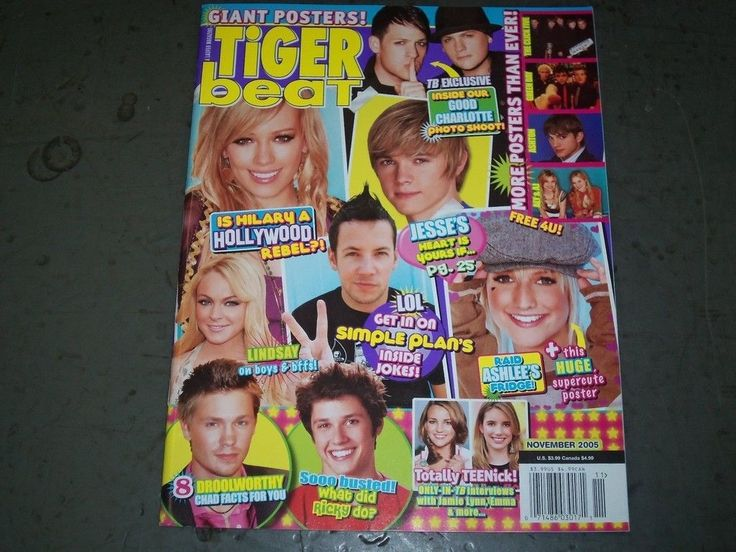 2005 NOVEMBER TIGER BEAT MAGAZINE - GIANT POSTER - GREAT COVER - BT 9319