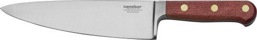 LamsonSharp 8-Inch Wide Forged Chef's Knife by LamsonSharp. $99.99. Made in the USA. Sharp for Life?Guarantee. Hardened and tempered high-carbon stainless steel. One-piece forged, full tang blades. The LamsonSharp Rosewood Forged Cutlery Series features a one-piece, forged, full tang blade made of hardened and tempered high-carbon stainless steel from Soligen, Germany.  The Oiled Rosewood hadles are naturally hard and heavy, making them extremely durable, they are triple ...