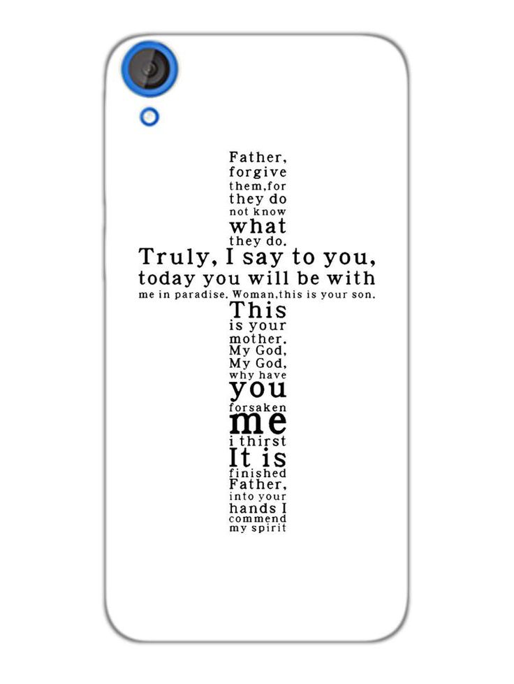 Holy Cross -Typography - Designer Mobile Phone Case Cover for HTC Desire 820