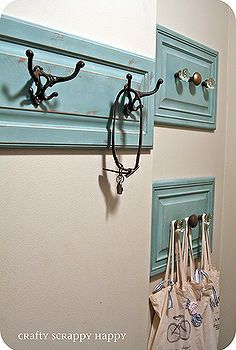 check out this coat hanger i made out of old cabinet doors, repurposing upcycling, this is the final product I love the color and the use of...
