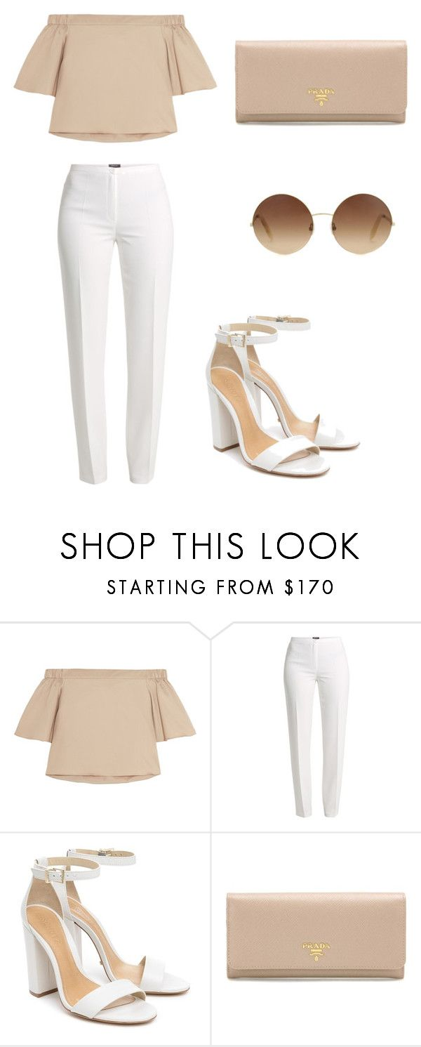 """""""Untitled #122"""" by ipinkiee ❤ liked on Polyvore featuring TIBI, Basler, Schutz, Prada and Victoria Beckham"""