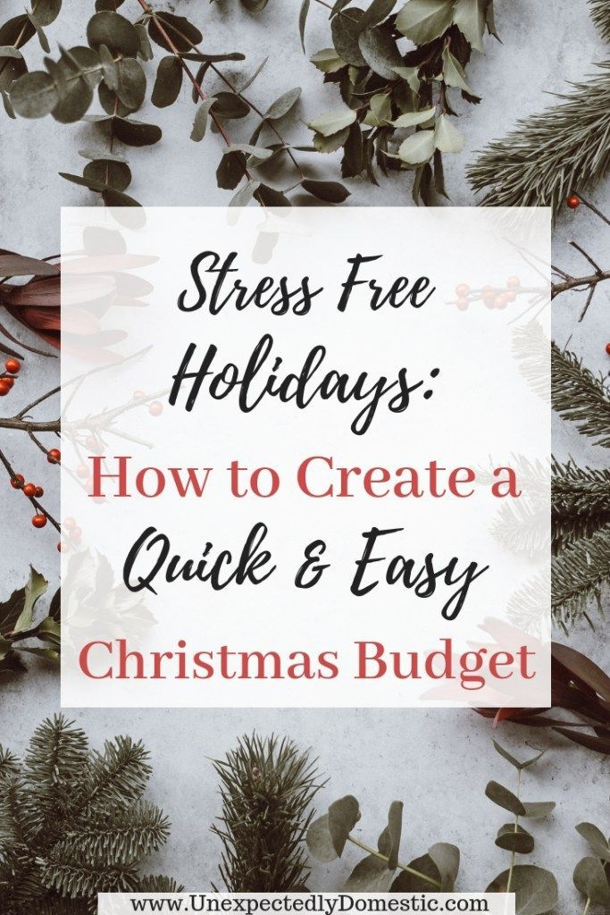 How to Create a Christmas Budget (and actually stick to it