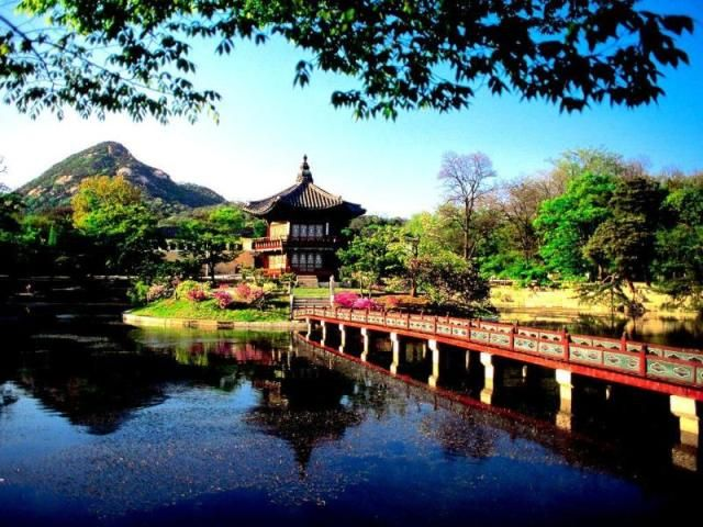 Hyangwonjong Pavilion Lake