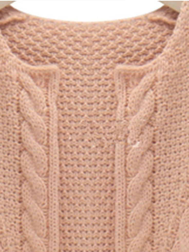 Buy Pink Loose Knit Cardigan With Long Sleeve from abaday.com, FREE shipping Worldwide - Fashion Clothing, Latest Street Fashion At Abaday.com