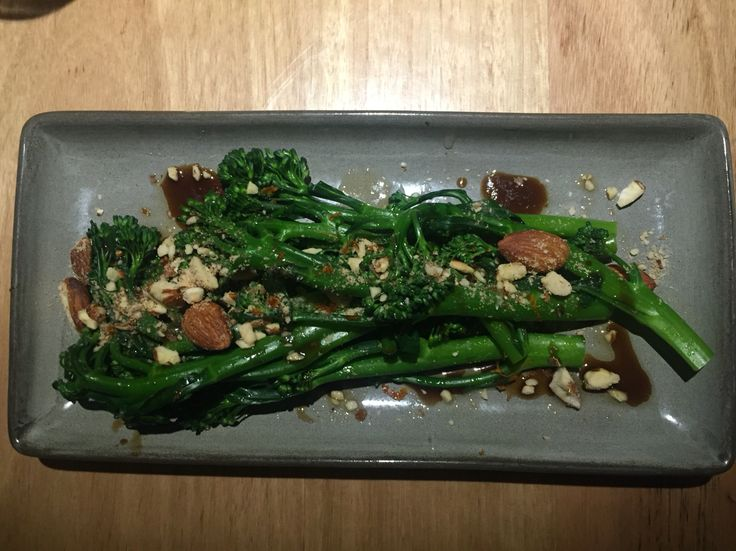 steamed broccolini, balsamic, smoked almonds