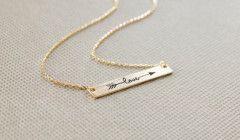 Love Ok Plaka Çelik Üzeri Gümüş /Altın Kaplama Bayan Kolye