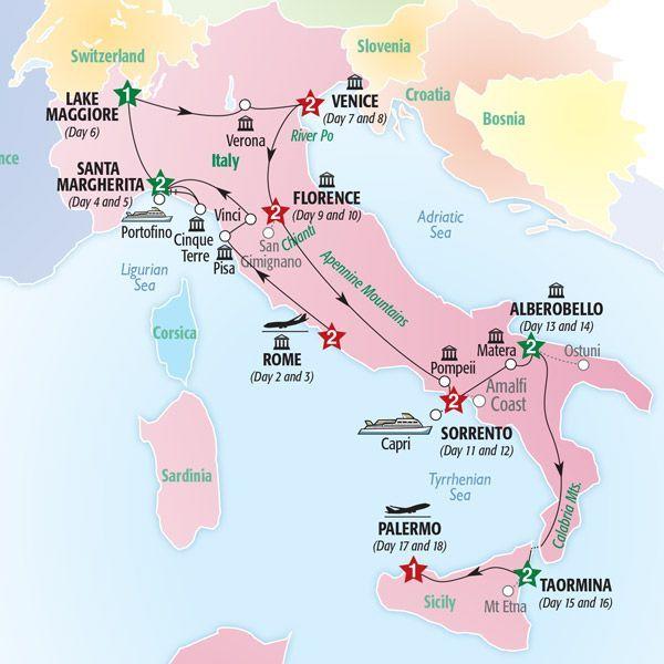 Calabria Italy Map Calabria Italy Kalabrien Italien Karte