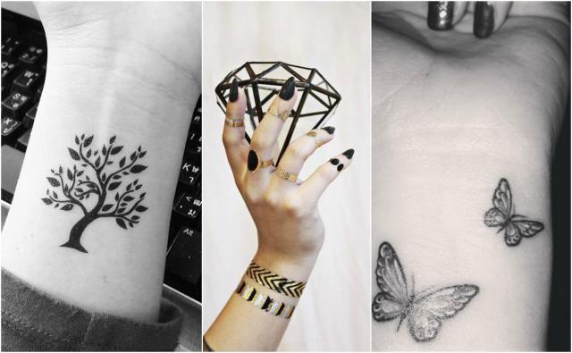 Tatuaże na nadgarstku: modne wzorki 2017