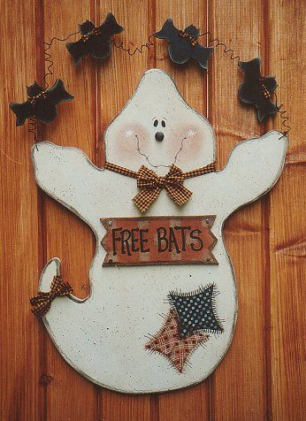Halloween wood craft patterns woodworking projects plans for Wood craft painting ideas