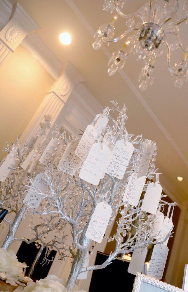 Silver Wedding Wishing Trees