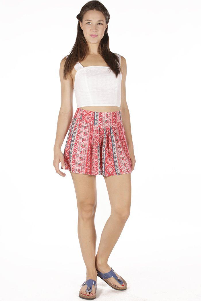 Red Shorts and white croptop! Summer Look #BadilaWithLove