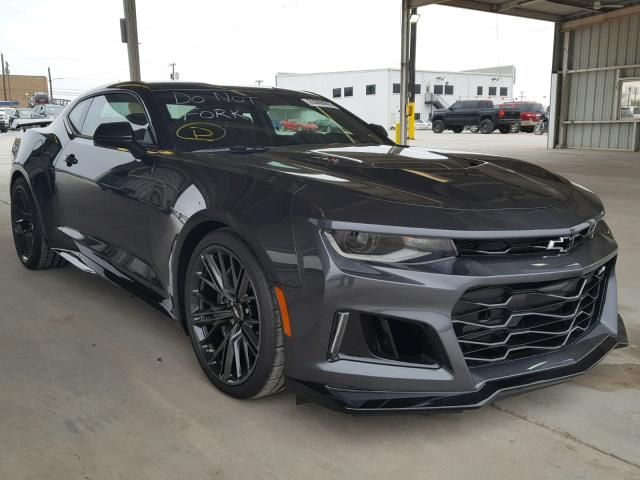 Salvage 2018 Chevrolet Camaro Zl1 Coupe For Sale Flood Title