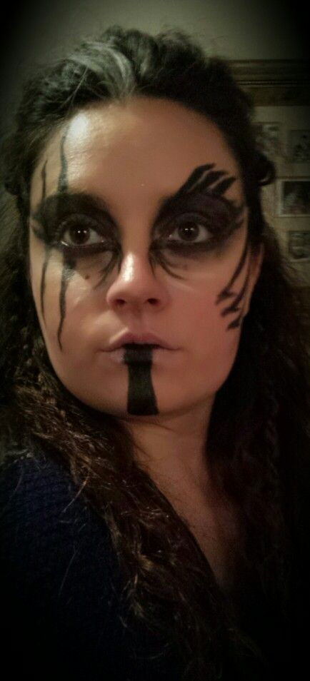 Viking warrior makeup