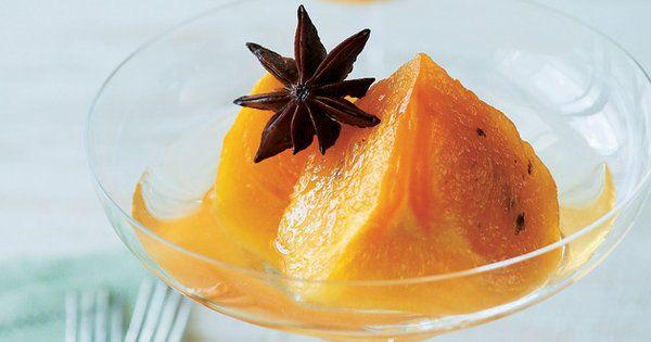 白ワインと柿のフレッシュ感を生かして。|『ELLE a table』はおしゃれで簡単なレシピが満載!