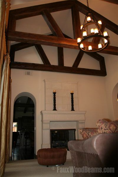8 best residential wood framing details images on for Faux wood trusses