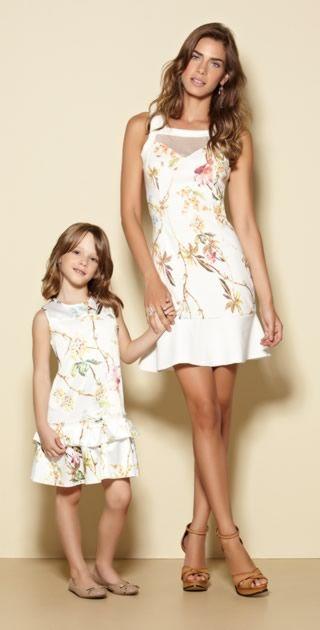 Lookbook vestidos mãe e filha...ameeeiii