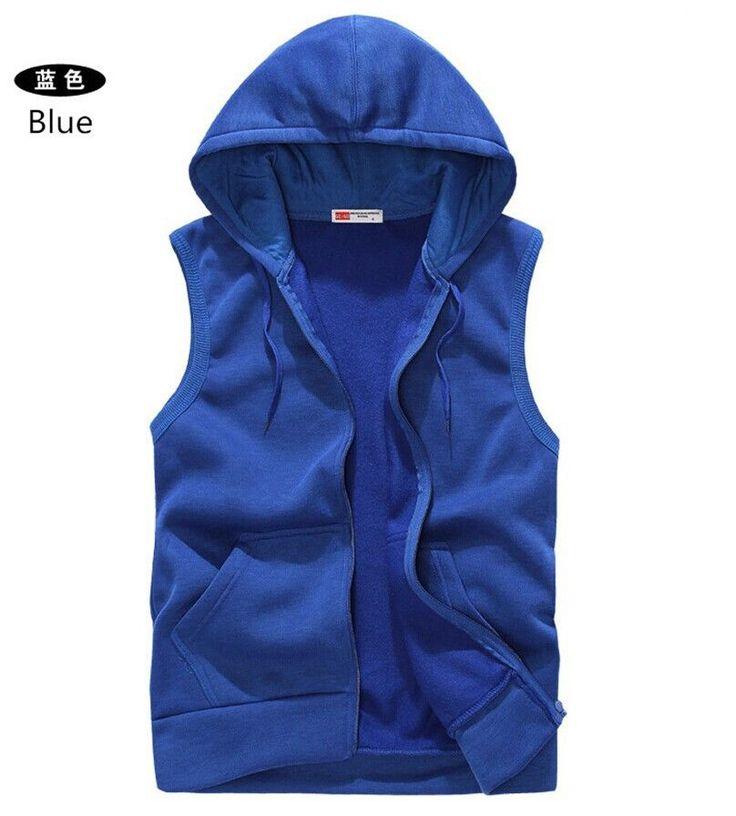 Mens Sleeveless Hoodies Fashion Casual Sports Sweatshirt Men Hip Hop Hoodie Men's Sportswear 5 Colors Size M-XXL A36