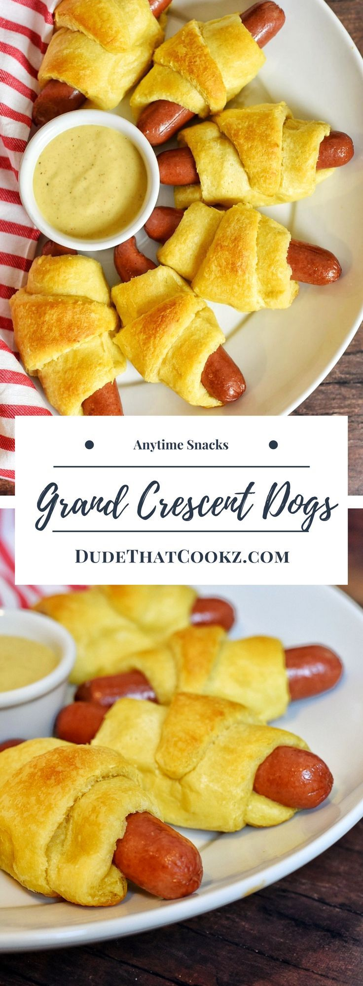 If you love crescent rolls and hot dogs why not combine the two! The buttery crescent roll with an all beef hot dog can be a change in the right direction. And the Kung Fu mustard sauce will enhance this hot dog experience and give it a kick. v via @dudethatcookz