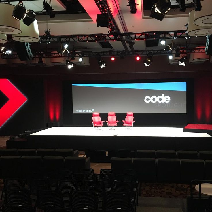 The stage is set. Join us for live coverage of our Code Conference starting at 4pm PT here, on Twitter, Facebook, YouTube and our website. Today we'll have interviews with Andy Rubin, Dean Baquet, Reid Hoffman, Marc Andreessen, Steve Ballmer and more. #codecon