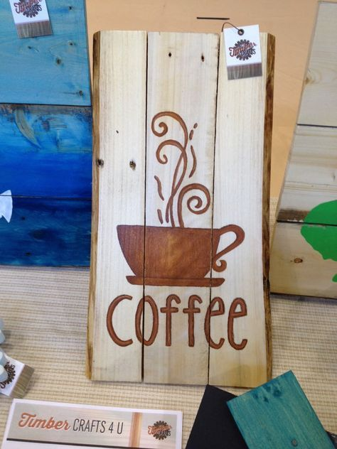 Coffee+painted+pallet+sign++reclaimed+wood+by+TimberCrafts4U