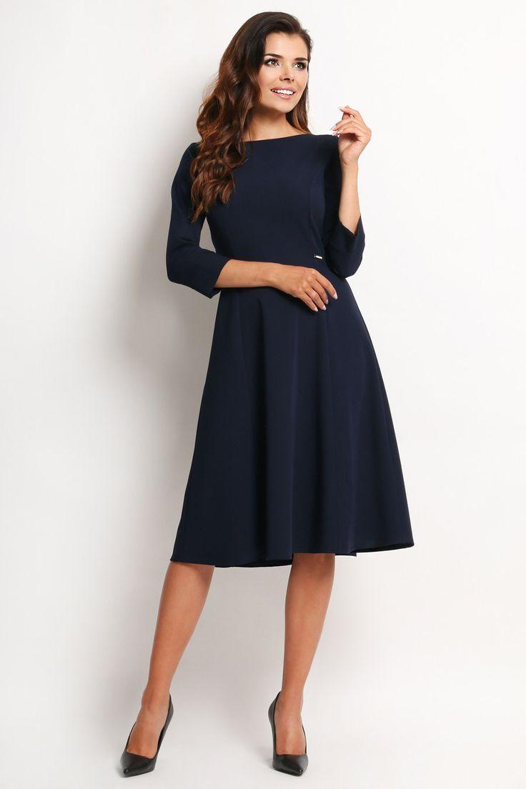 Elegancka Sukienka Granatowa A112