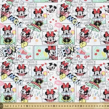 Disney Minnie Mouse Comic Strip Multicoloured 108 cm | Spotlight Australia