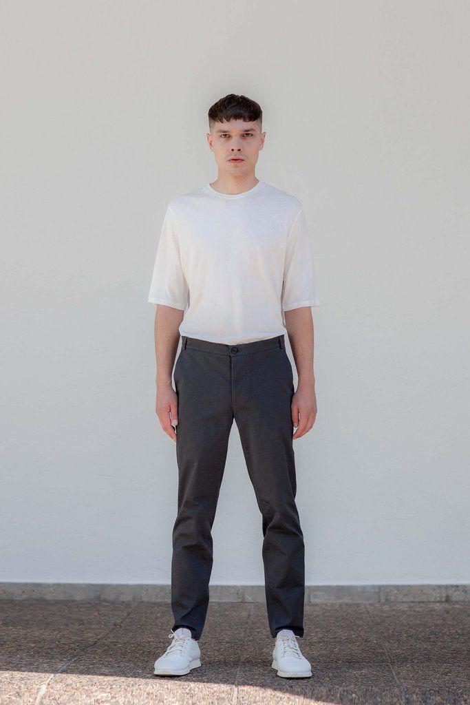 VON HUND Fashion & Design - Menswear Lookbook S/S16, Beige Ove Box-Cut Tee & Anthracite Folcher Pants. Radical Price Transparency.  www.vonhund.com